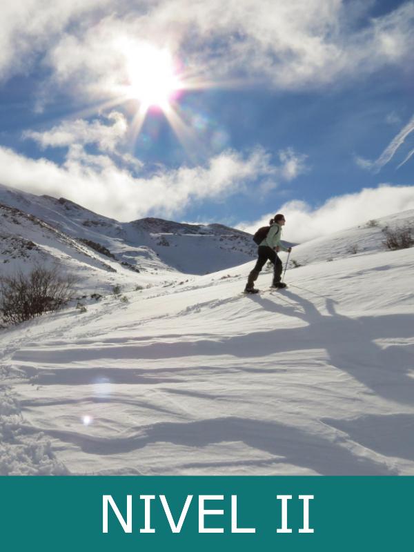 raquetas de nieve subida